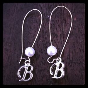 Jewelry - Pearl Beaded Initial Earrings - Choose your letter